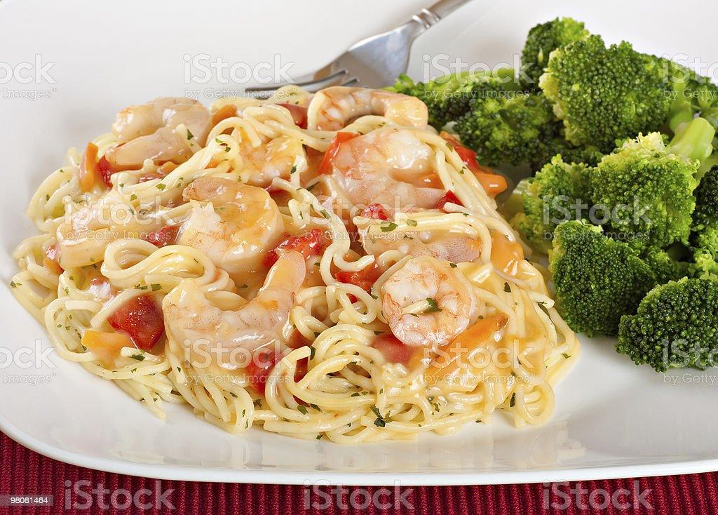 Shrimp Pasta royalty-free stock photo