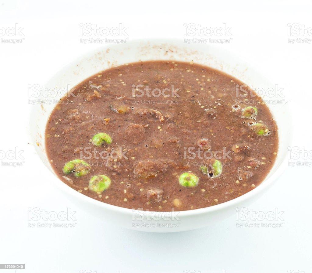shrimp paste chilli sauce royalty-free stock photo