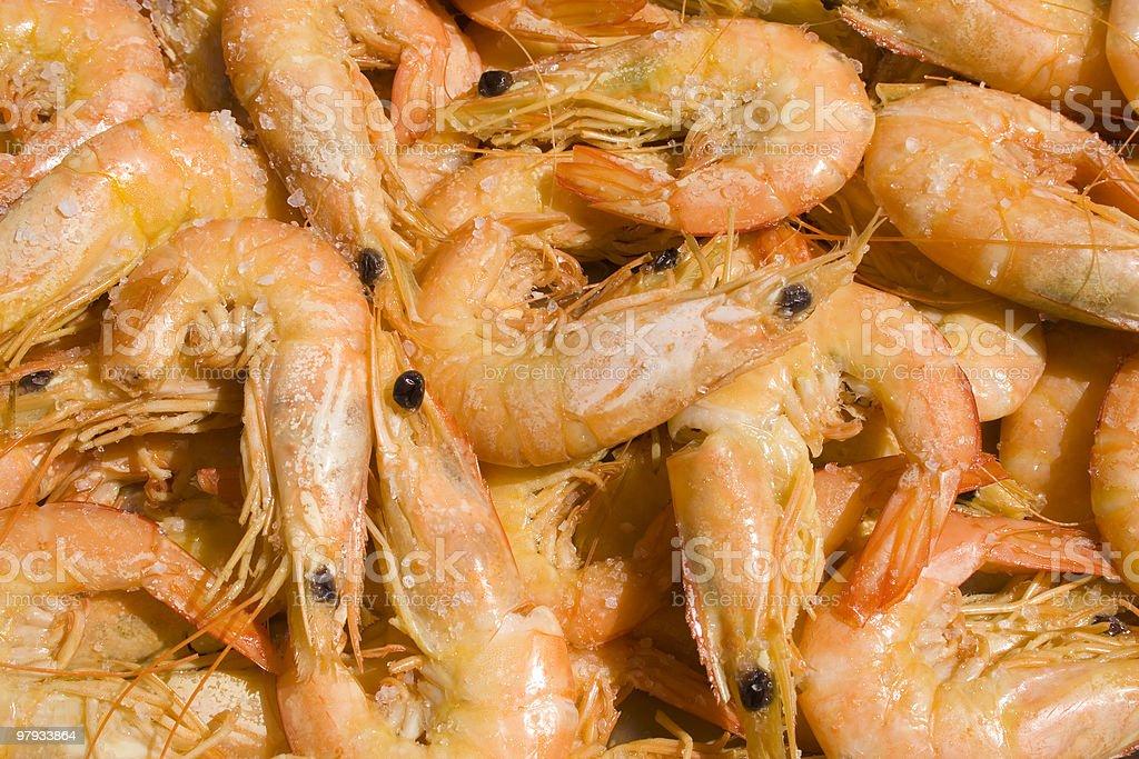 shrimp pattern royalty-free stock photo
