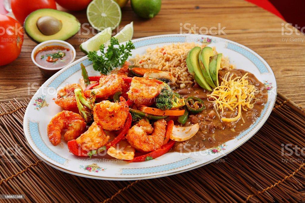 Shrimp Platter royalty-free stock photo