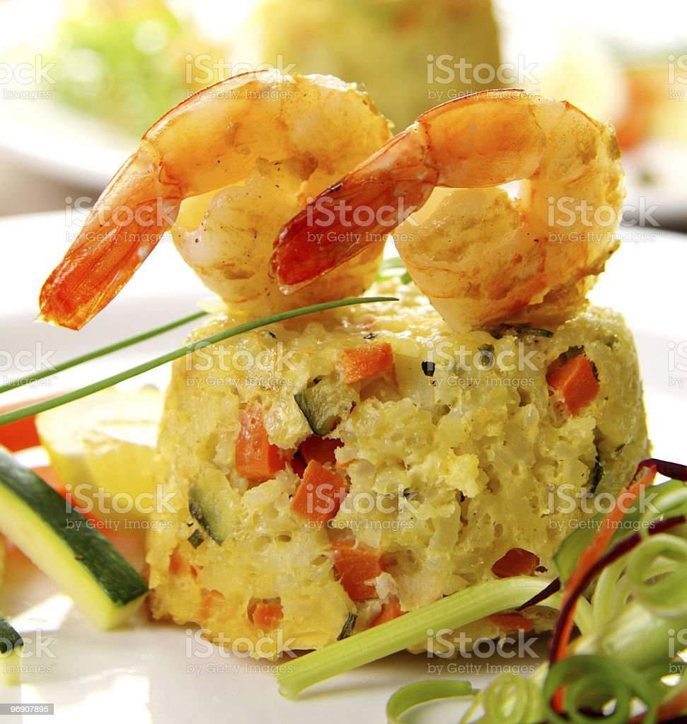 Shrimp Risotto royalty-free stock photo