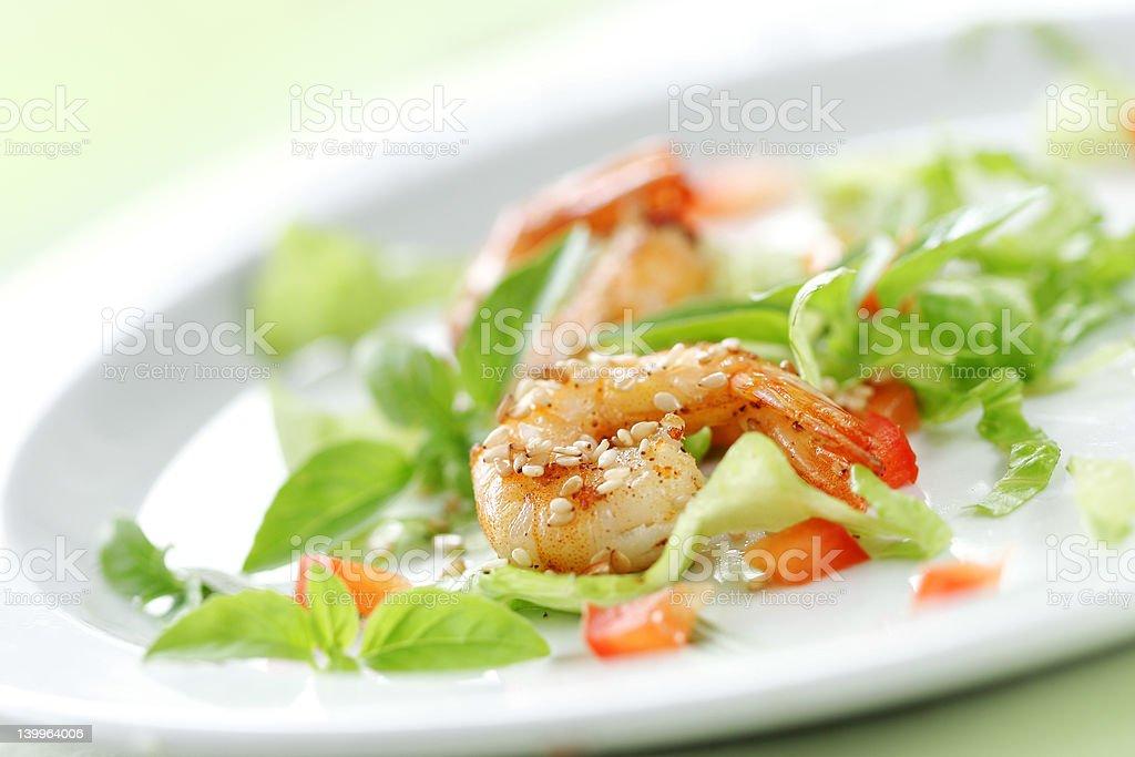 shrimp salad royalty-free stock photo