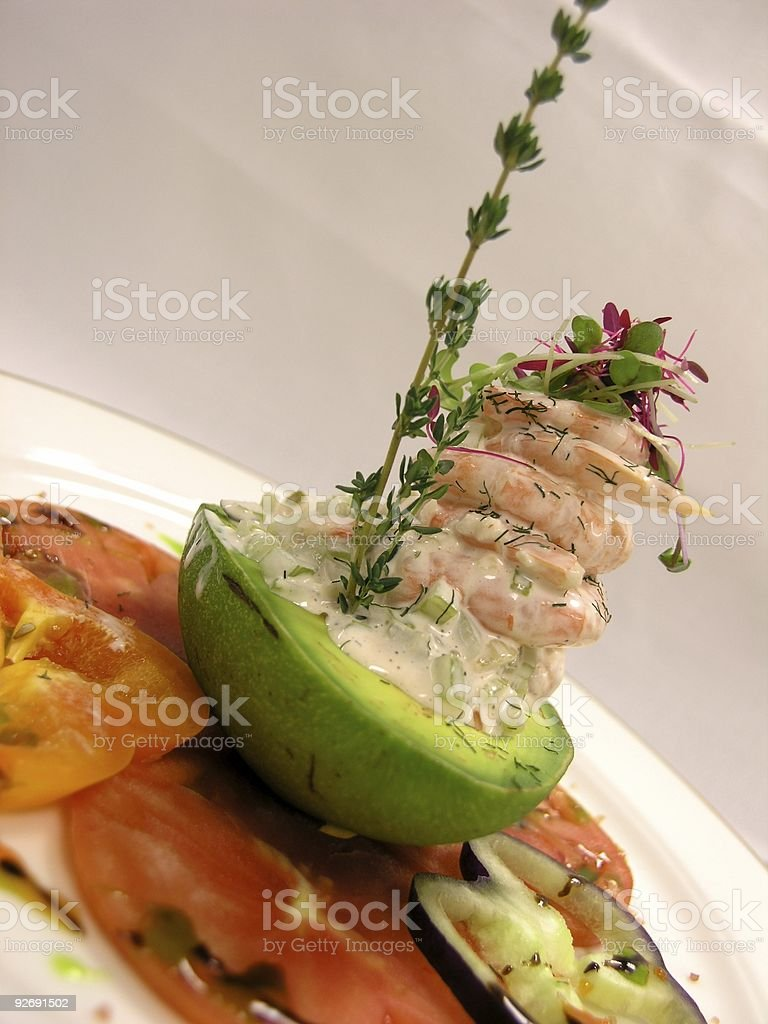 Shrimp Salad royalty-free stock photo