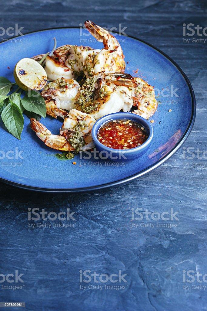 Shrimp satay stock photo
