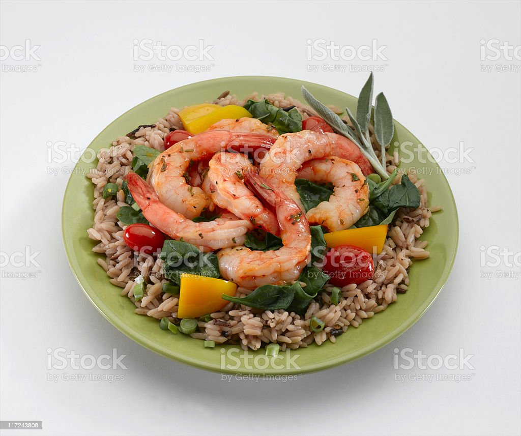 Shrimp Saute royalty-free stock photo