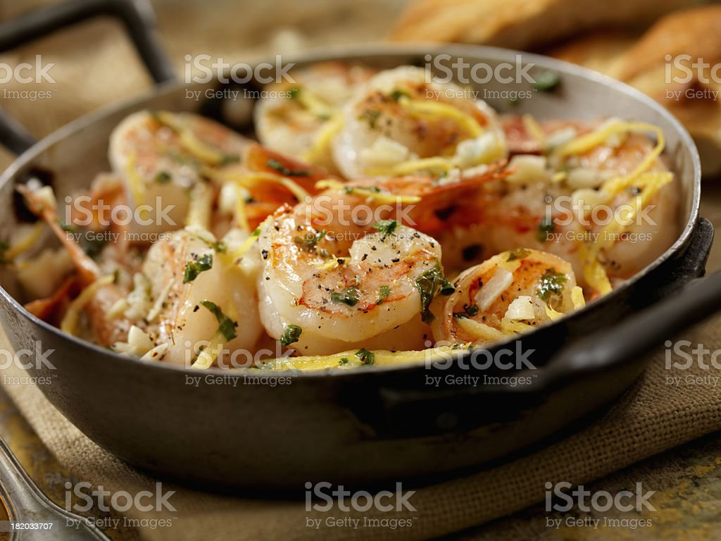 Shrimp Scampi stock photo