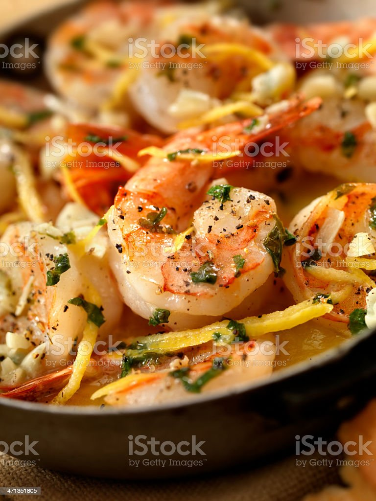 Shrimp Scampi royalty-free stock photo