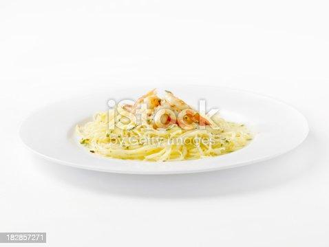Shrimp Scampi With Angel Hair Pasta Stock Photo Istock
