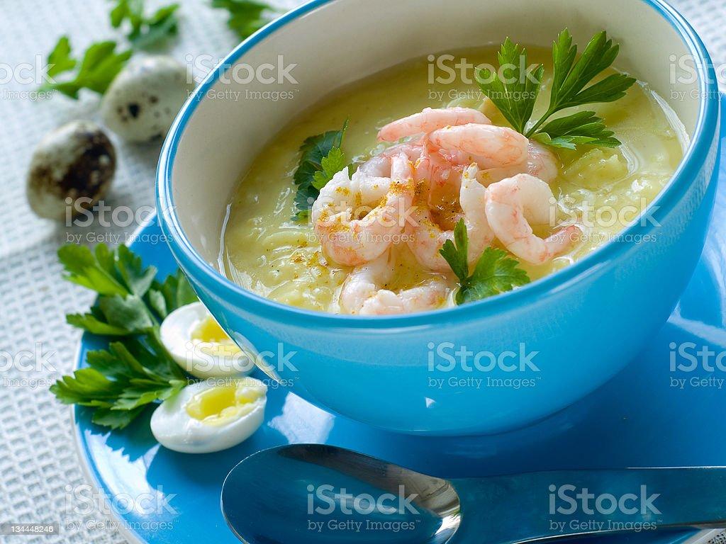 Shrimp soup royalty-free stock photo