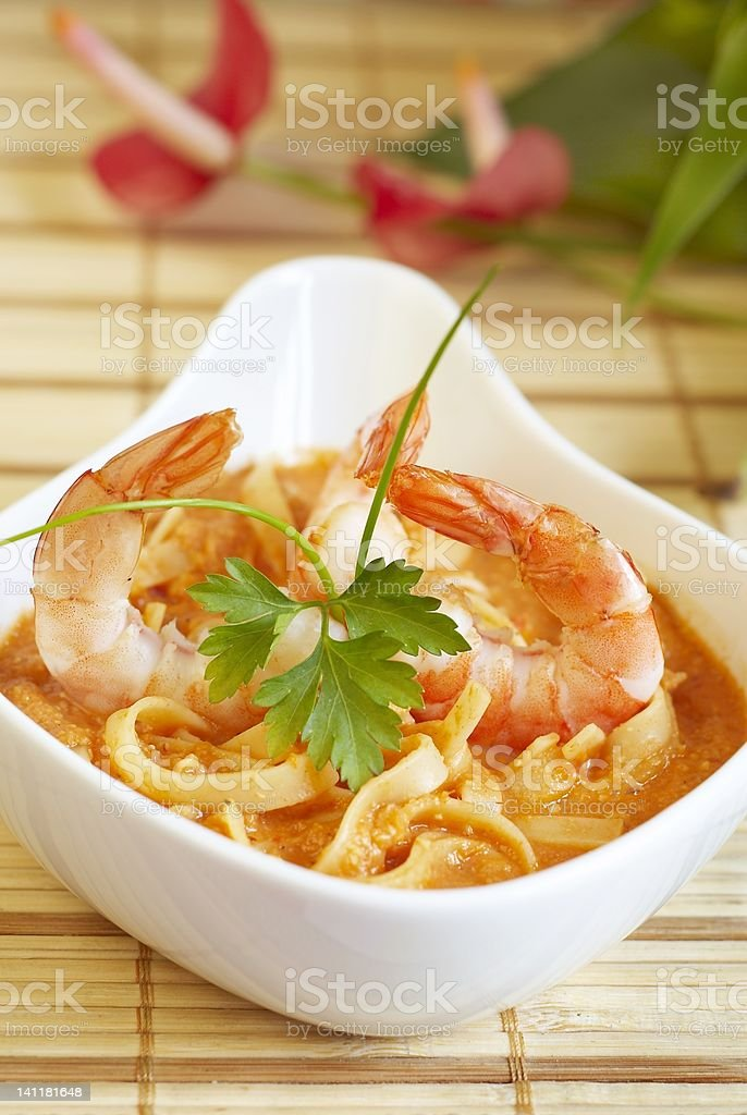 Shrimp soup royalty-free stock photo