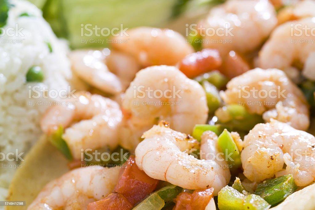 Shrimp Stew Taco royalty-free stock photo