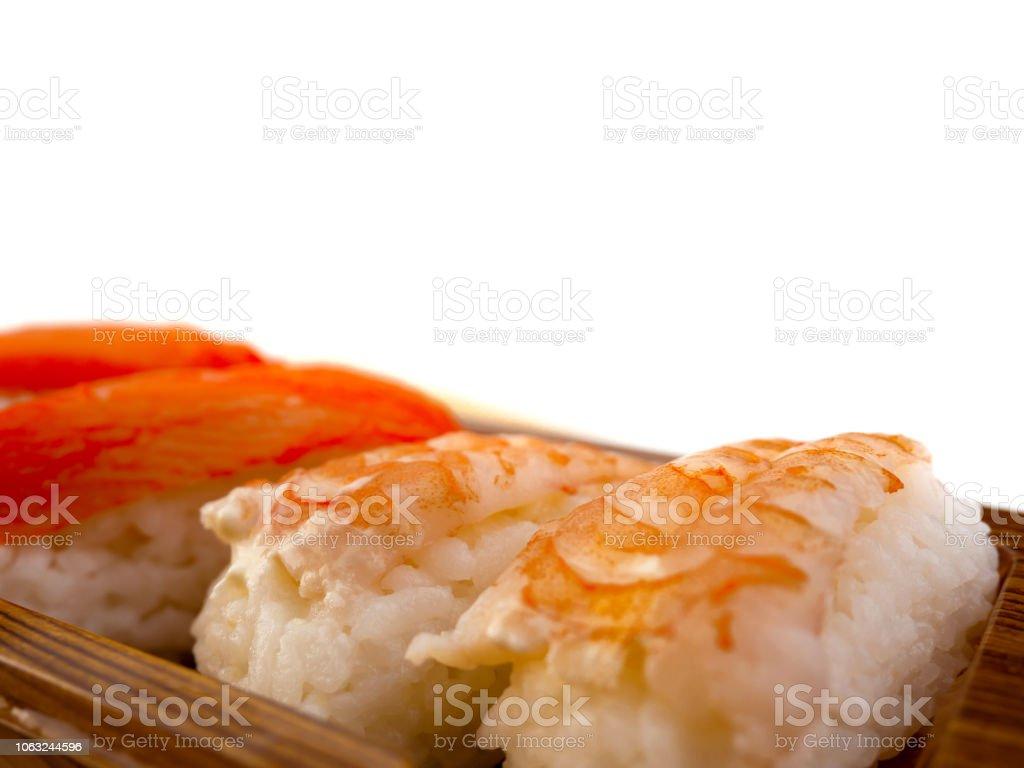 Shrimp Sushi Or Japanese Ebi Sushi Set Stock Photo More Pictures