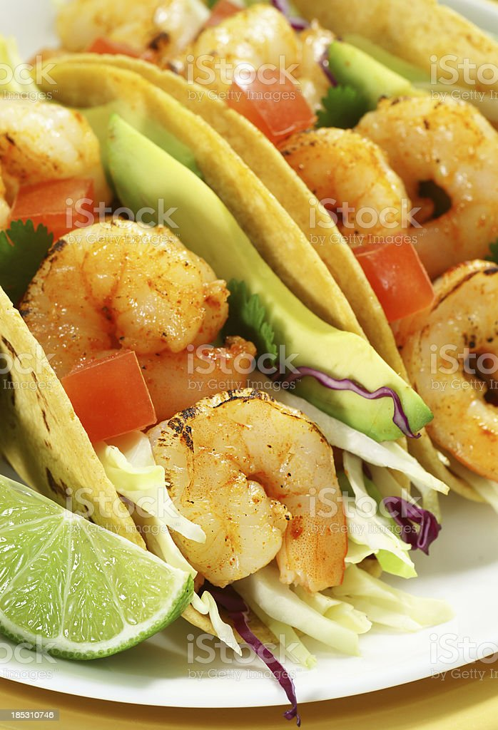 Garnelen-Tacos Lizenzfreies stock-foto