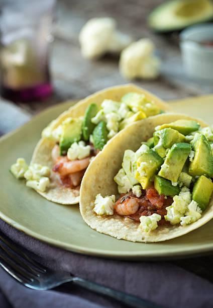 Shrimp Tacos stock photo