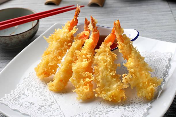 camarão tempura - tempura imagens e fotografias de stock