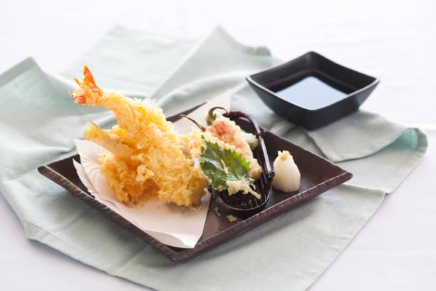 shrimp tempura - tempura imagens e fotografias de stock