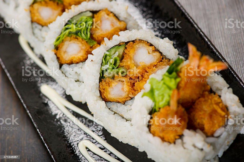 Shrimp Tempura Roll stock photo