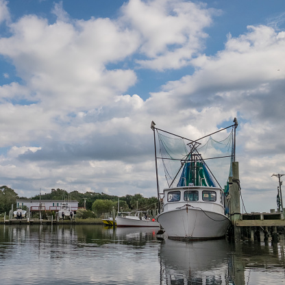 Shrimp Trawler Harkers Island Nc Stock Photo - Download ...