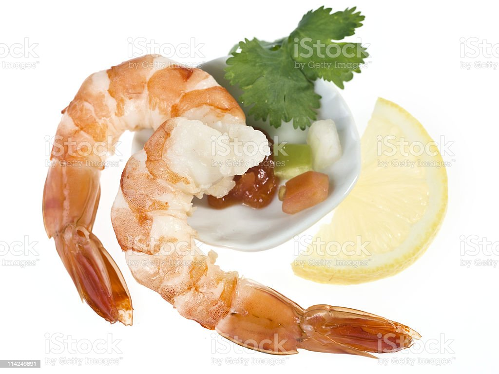 Shrimps appetizer royalty-free stock photo