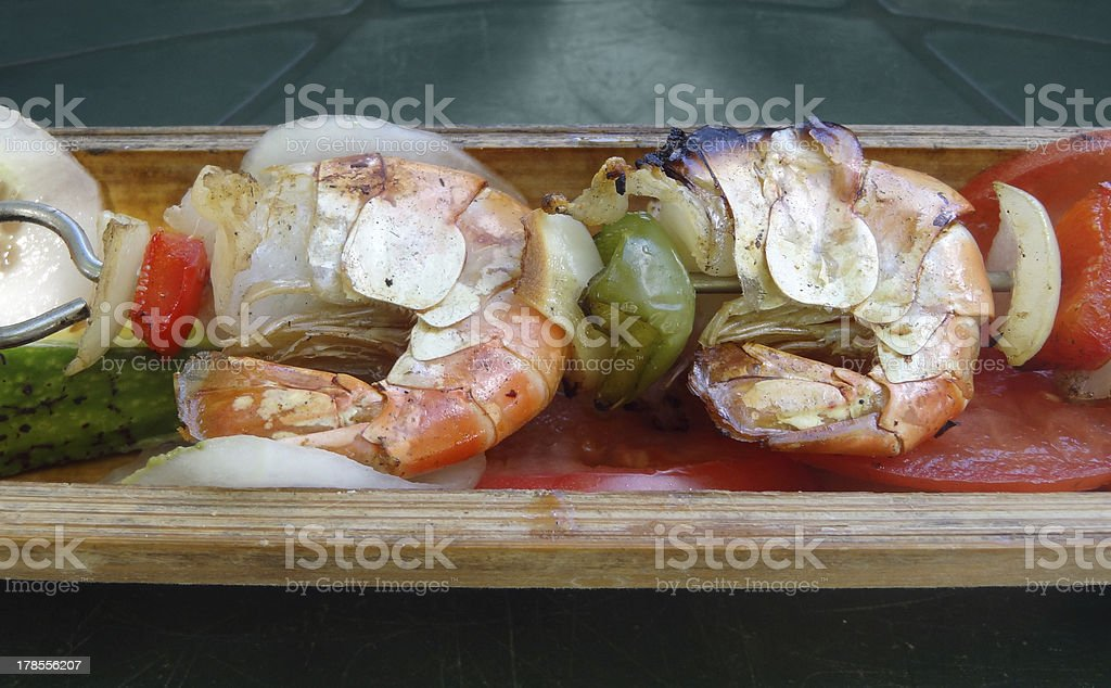 shrimps dish royalty-free stock photo