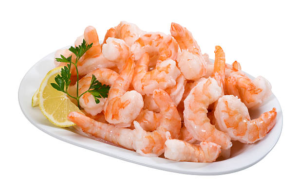 Shrimps(+clipping path) stock photo