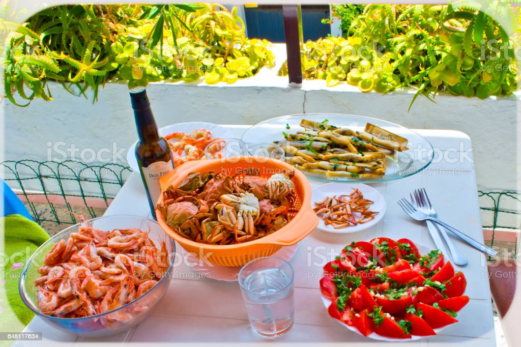 Shrimps. stock photo