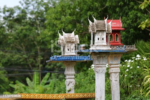 Shrine according to the Hindu belief that is worshiped in Thailand