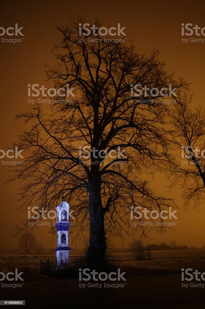 Shrine at night stock photo