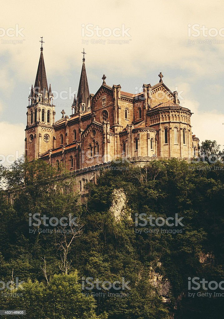 shrine of Covadonga stock photo