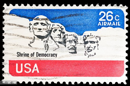 Stock photo of the Shrine of Democracy US Postal Stamp