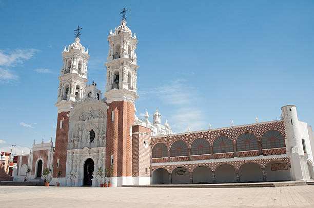 Shrine of Our Lady of Ocotlan, Tlaxcala (Mexico) stock photo