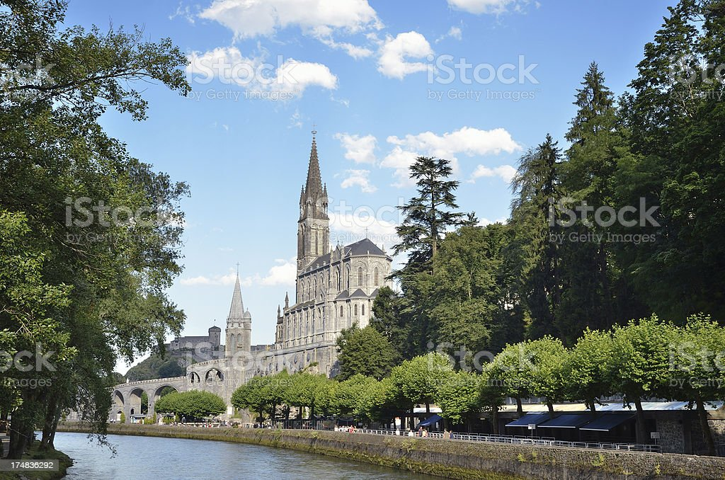 Shrines of Lourdes stock photo