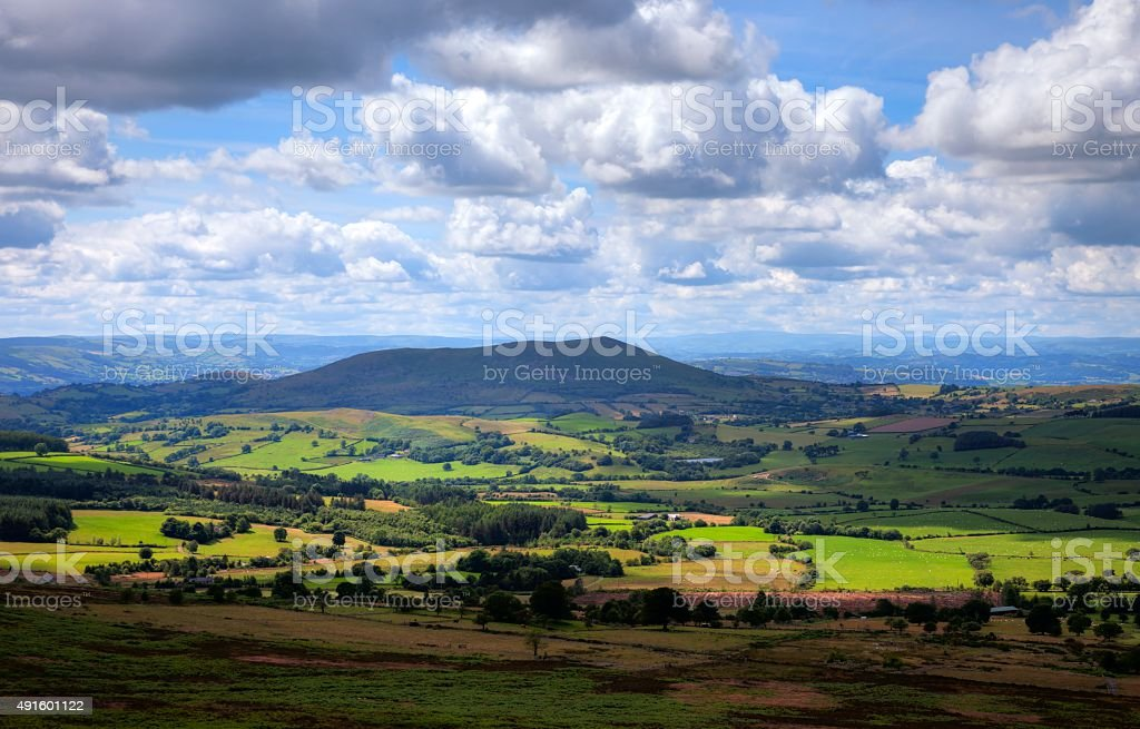 Shropshire countryside, England stock photo