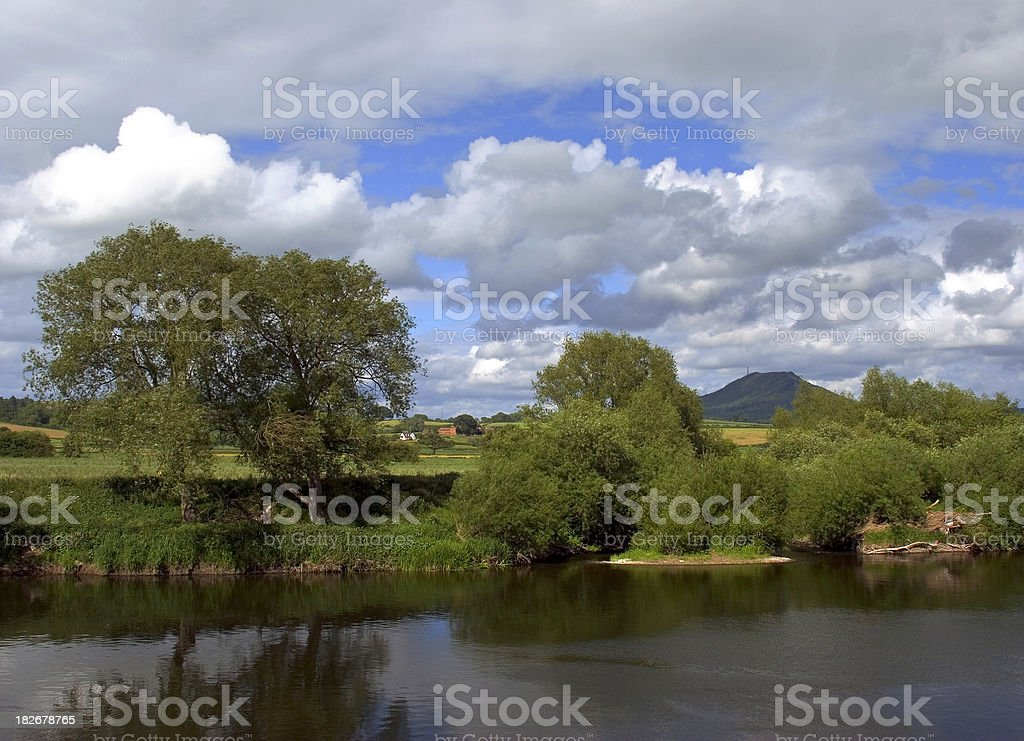 Shropshire countryside royalty-free stock photo