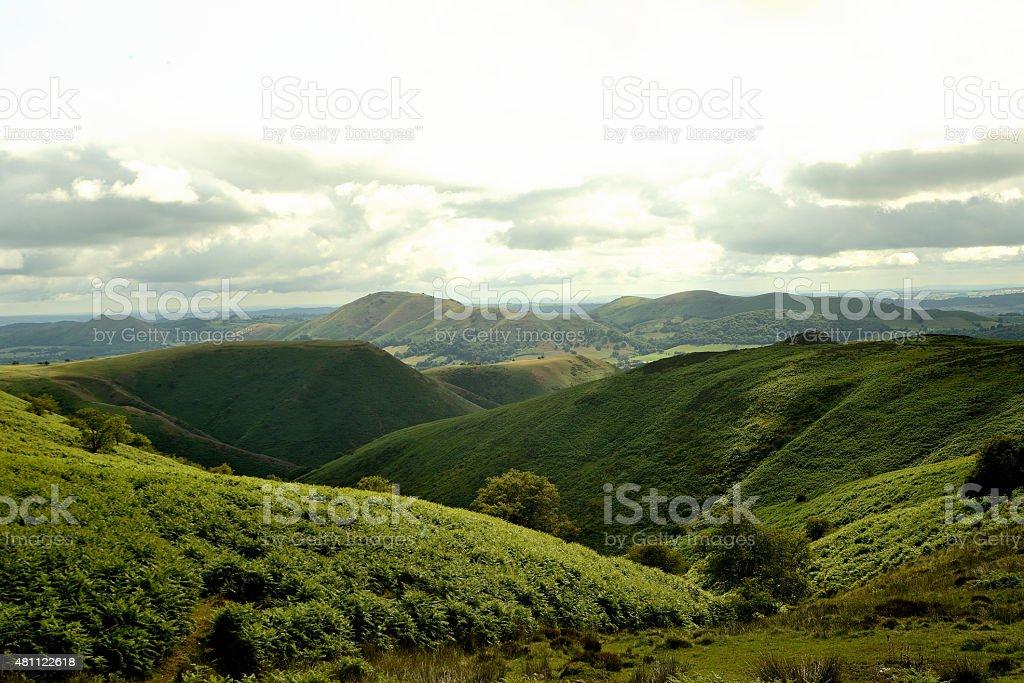 Shropshire hills stock photo