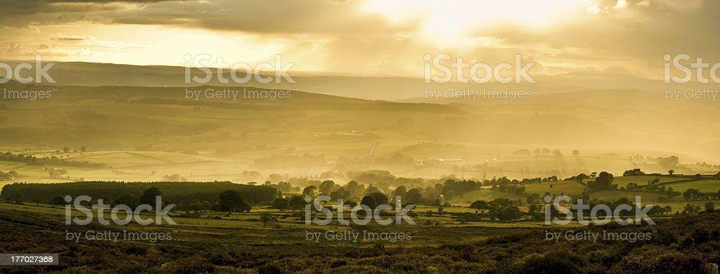 Shropshire Hills Sunset Summer stock photo