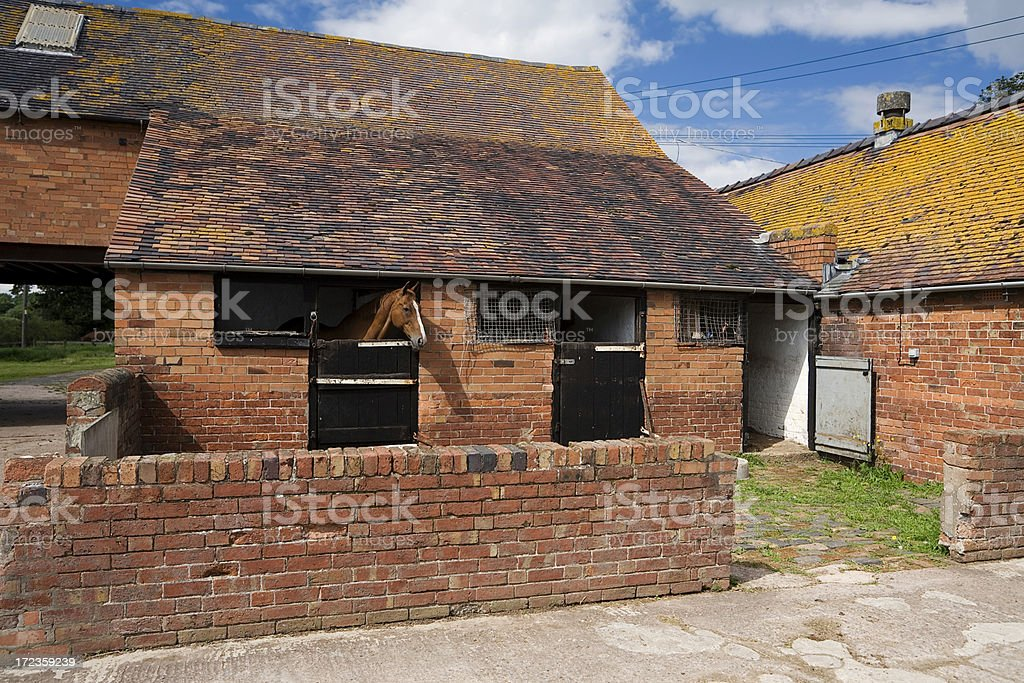 Shropshire Stables royalty-free stock photo