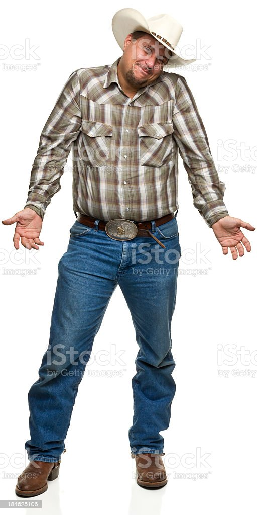 Shrugging Cowboy stock photo