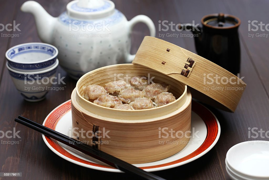 shu mai, shao mai, chinese food stock photo