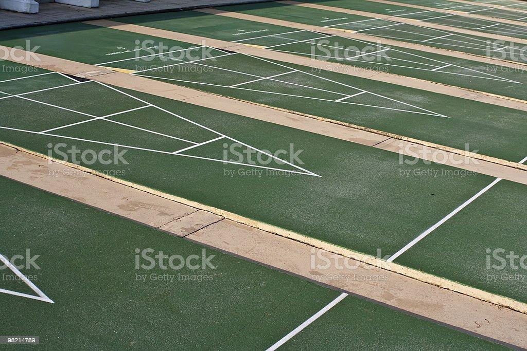 Shuffleboard Courts royalty-free stock photo