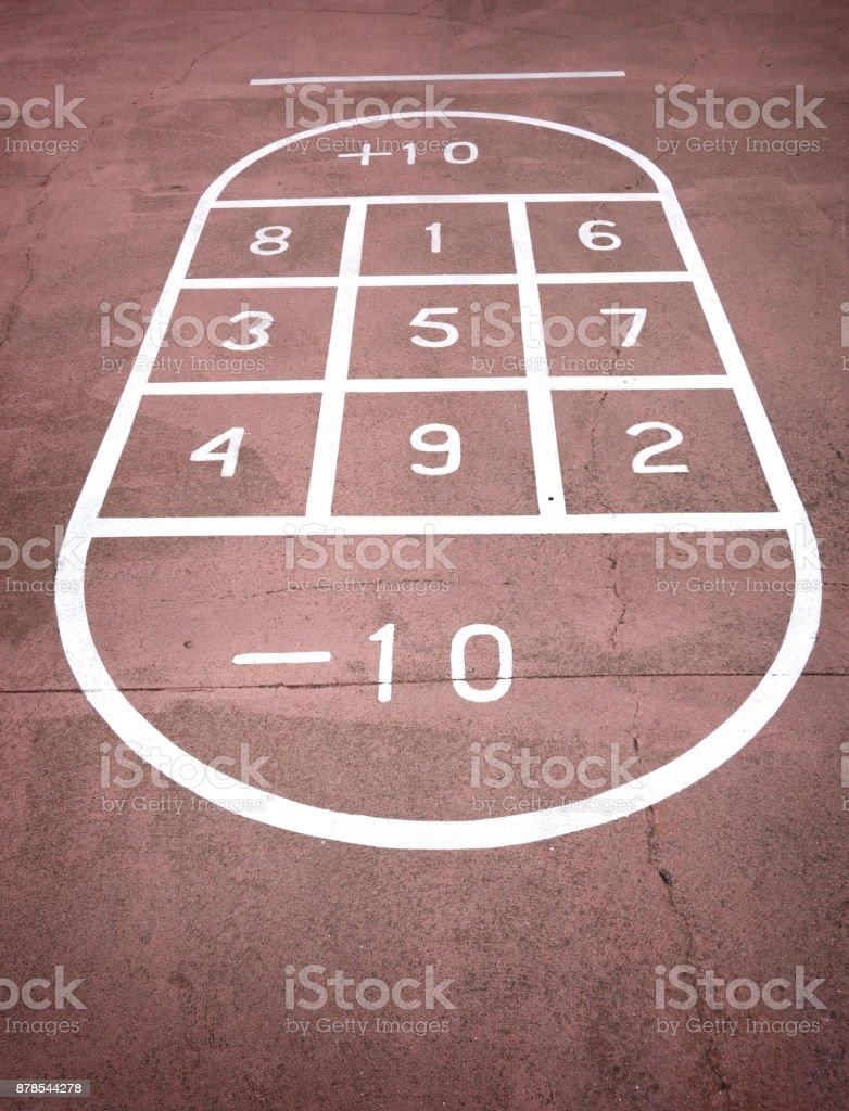 shuffleboard stock photo