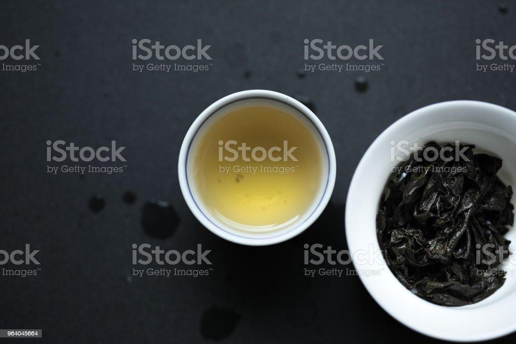 Shui Jin Gui liquor and spent tea leaves - Royalty-free Chinese Tea Stock Photo
