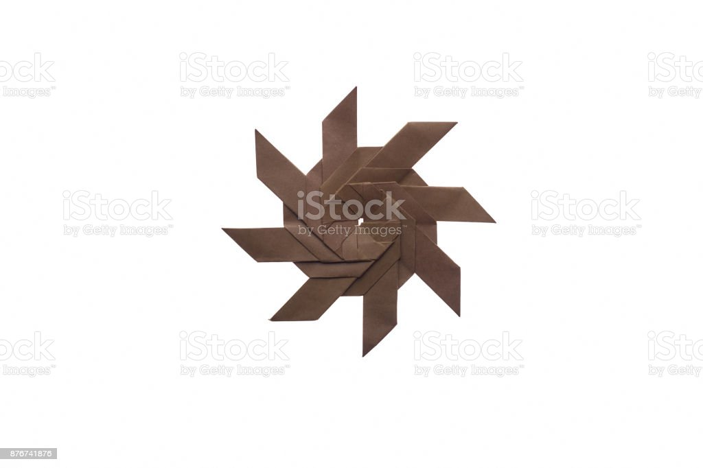 Origami Symmetrical Shuriken Star Tutorial - Paper Kawaii | 682x1024