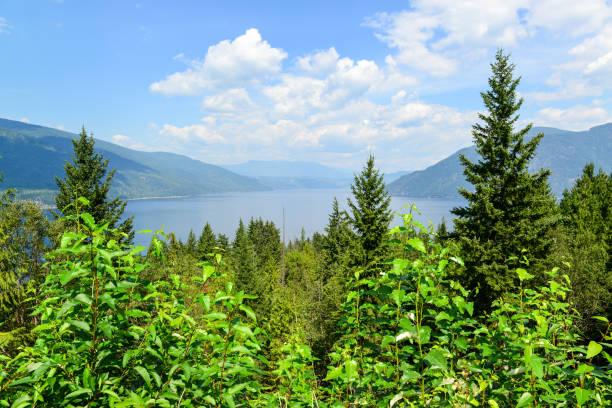 Shuswap Lake, Columbia Británica, Canadá. - foto de stock
