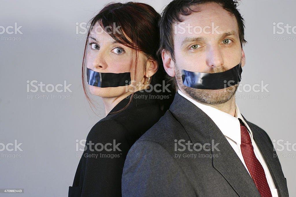 Shut up!!! royalty-free stock photo
