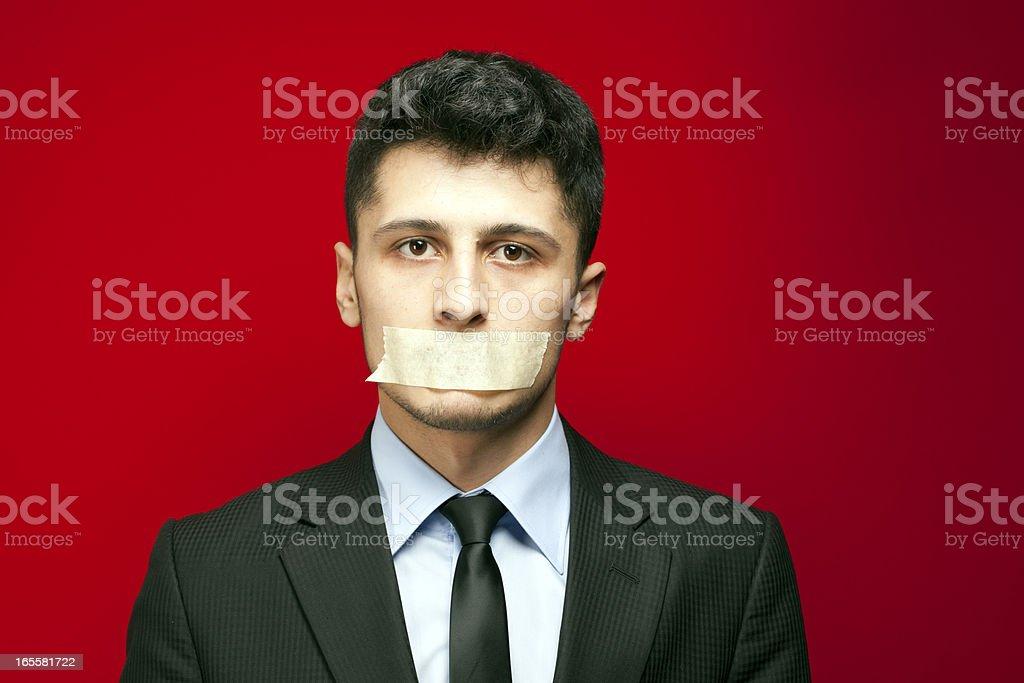 Taci! - Bocca sigillata - foto stock