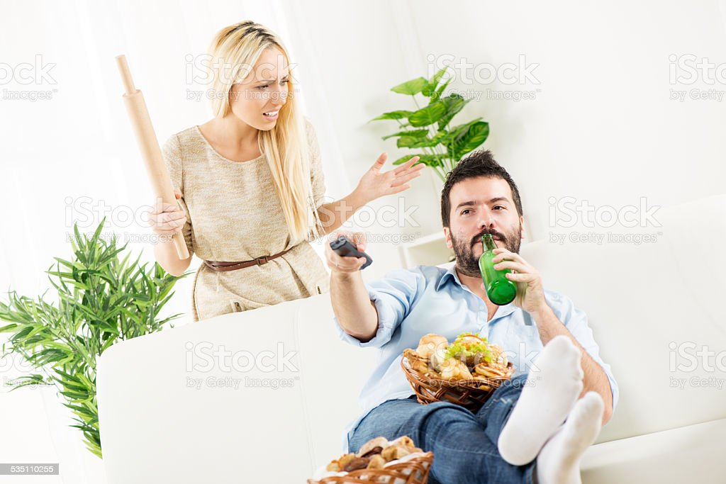 Shut Up Wife, Match Starts stock photo