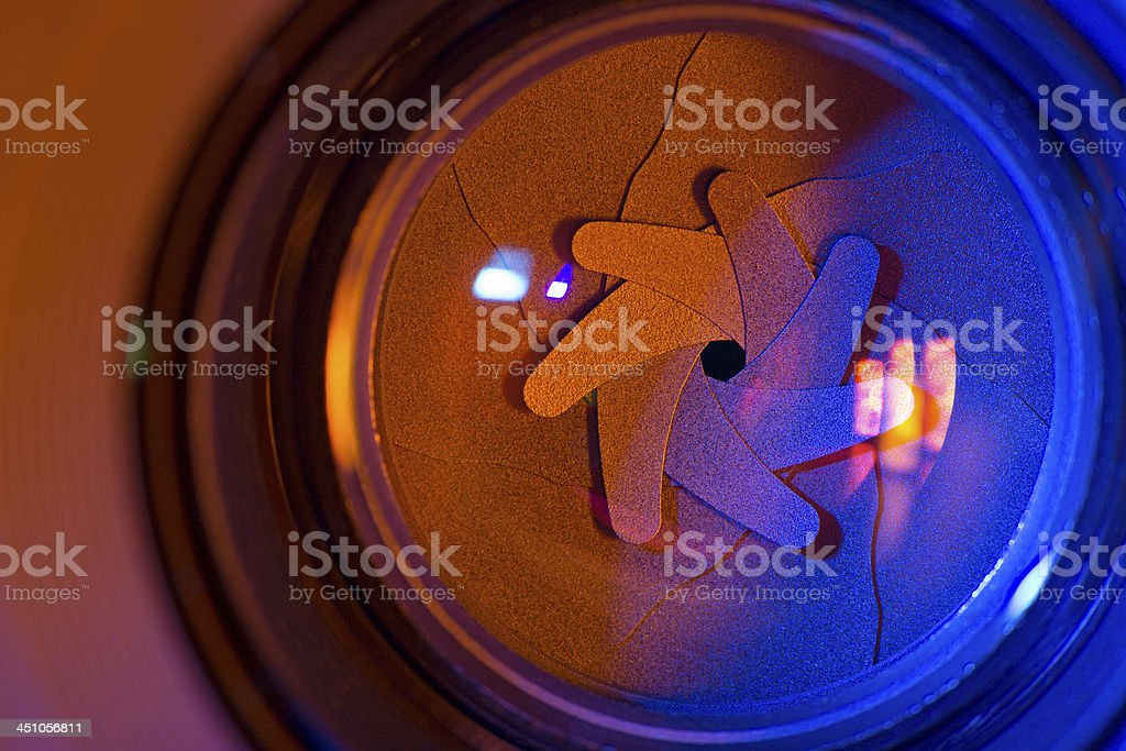 Shutter blades royalty-free stock photo