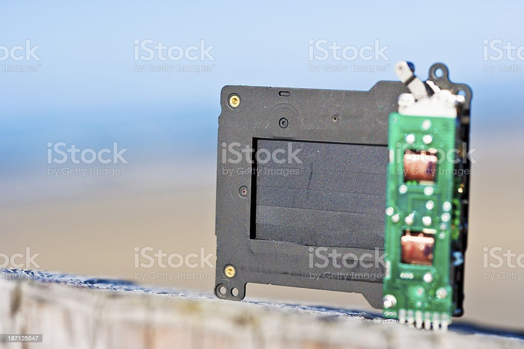 Shutter of a photocamera royalty-free stock photo