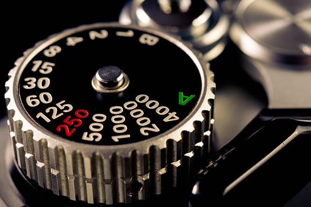 shutter speed dial stock photo